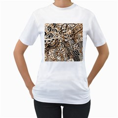 Zentangle Mix 1216c Women s T-Shirt (White)