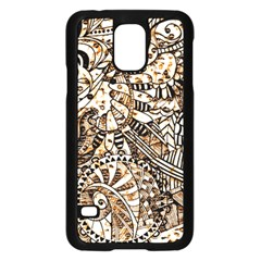 Zentangle Mix 1216c Samsung Galaxy S5 Case (Black)
