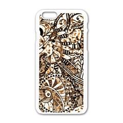 Zentangle Mix 1216c Apple iPhone 6/6S White Enamel Case