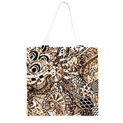 Zentangle Mix 1216c Grocery Light Tote Bag