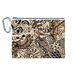 Zentangle Mix 1216c Canvas Cosmetic Bag (L)