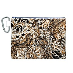 Zentangle Mix 1216c Canvas Cosmetic Bag (XL)