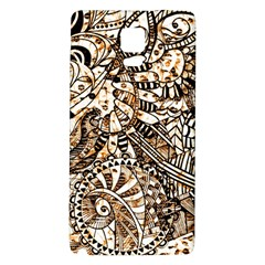 Zentangle Mix 1216c Galaxy Note 4 Back Case