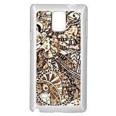Zentangle Mix 1216c Samsung Galaxy Note 4 Case (White)