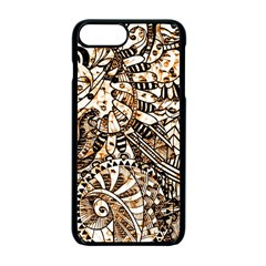 Zentangle Mix 1216c Apple iPhone 7 Plus Seamless Case (Black)
