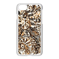 Zentangle Mix 1216c Apple Iphone 7 Seamless Case (white)