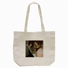 Ocicat Tawny Kitten With Cinnamon Mother  Tote Bag (Cream)