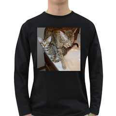 Ocicat Tawny Kitten With Cinnamon Mother  Long Sleeve Dark T-Shirts