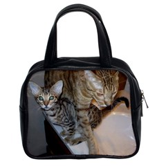 Ocicat Tawny Kitten With Cinnamon Mother  Classic Handbags (2 Sides)