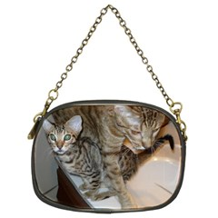 Ocicat Tawny Kitten With Cinnamon Mother  Chain Purses (Two Sides)