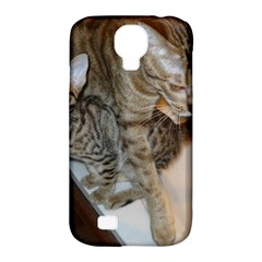 Ocicat Tawny Kitten With Cinnamon Mother  Samsung Galaxy S4 Classic Hardshell Case (PC+Silicone)