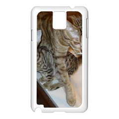 Ocicat Tawny Kitten With Cinnamon Mother  Samsung Galaxy Note 3 N9005 Case (White)