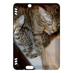 Ocicat Tawny Kitten With Cinnamon Mother  Kindle Fire HDX Hardshell Case
