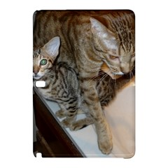 Ocicat Tawny Kitten With Cinnamon Mother  Samsung Galaxy Tab Pro 10.1 Hardshell Case