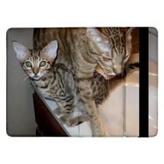 Ocicat Tawny Kitten With Cinnamon Mother  Samsung Galaxy Tab Pro 12.2  Flip Case