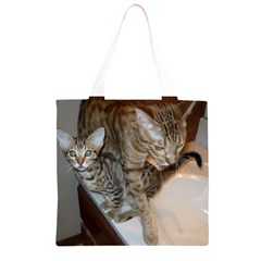Ocicat Tawny Kitten With Cinnamon Mother  Grocery Light Tote Bag