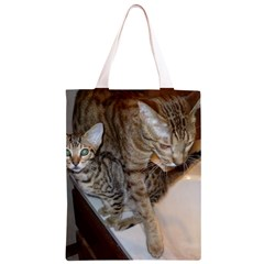 Ocicat Tawny Kitten With Cinnamon Mother  Classic Light Tote Bag