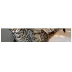 Ocicat Tawny Kitten With Cinnamon Mother  Flano Scarf (Large)