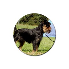 Brussels Griffon Full  Rubber Round Coaster (4 pack)