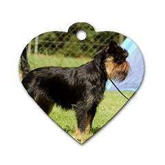 Brussels Griffon Full  Dog Tag Heart (One Side)