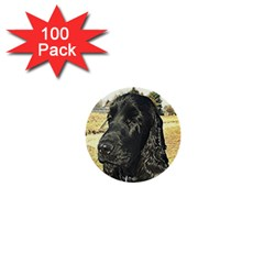 Black English Cocker Spaniel  1  Mini Buttons (100 pack)