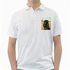 Black English Cocker Spaniel  Golf Shirts