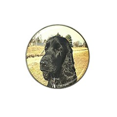 Black English Cocker Spaniel  Hat Clip Ball Marker (4 pack)