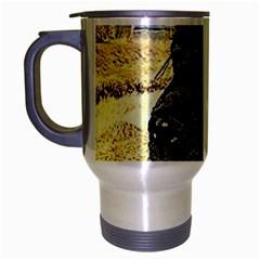 Black English Cocker Spaniel  Travel Mug (Silver Gray)