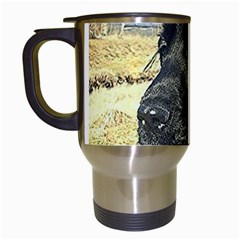 Black English Cocker Spaniel  Travel Mugs (White)