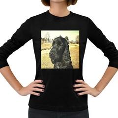 Black English Cocker Spaniel  Women s Long Sleeve Dark T-Shirts
