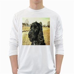 Black English Cocker Spaniel  White Long Sleeve T-Shirts