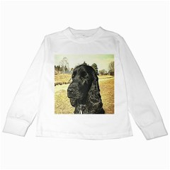 Black English Cocker Spaniel  Kids Long Sleeve T-Shirts