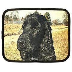 Black English Cocker Spaniel  Netbook Case (XL)