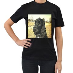 Black English Cocker Spaniel  Women s T-Shirt (Black)