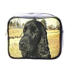 Black English Cocker Spaniel  Mini Toiletries Bags