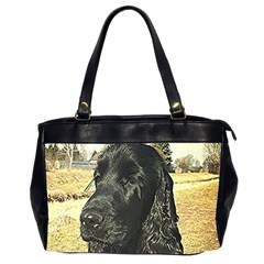Black English Cocker Spaniel  Office Handbags (2 Sides)
