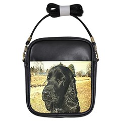 Black English Cocker Spaniel  Girls Sling Bags