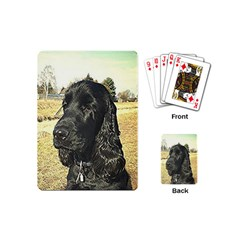 Black English Cocker Spaniel  Playing Cards (Mini)