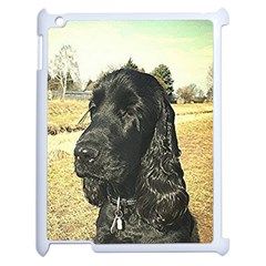 Black English Cocker Spaniel  Apple iPad 2 Case (White)