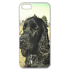 Black English Cocker Spaniel  Apple Seamless iPhone 5 Case (Clear)