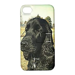 Black English Cocker Spaniel  Apple iPhone 4/4S Hardshell Case with Stand