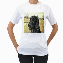 Black English Cocker Spaniel  Women s T-Shirt (White)