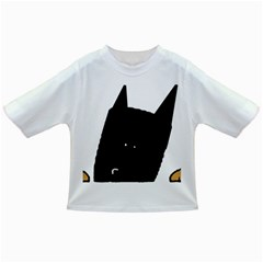Peeping German Shepherd Bi Color  Infant/Toddler T-Shirts