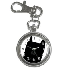 Peeping German Shepherd Bi Color  Key Chain Watches