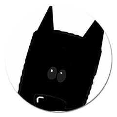 Peeping German Shepherd Bi Color  Magnet 5  (Round)