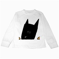 Peeping German Shepherd Bi Color  Kids Long Sleeve T-Shirts