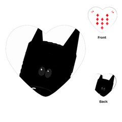 Peeping German Shepherd Bi Color  Playing Cards (Heart)