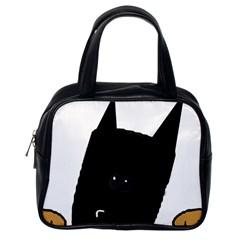 Peeping German Shepherd Bi Color  Classic Handbags (One Side)