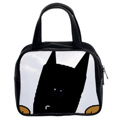 Peeping German Shepherd Bi Color  Classic Handbags (2 Sides)