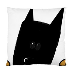 Peeping German Shepherd Bi Color  Standard Cushion Case (One Side)